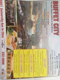 New China Buffet Coupons by Buffet City Home Clive Iowa Menu Prices Restaurant