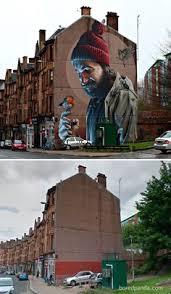 si e de mural mixing graffiti and trees graffiti and