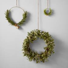 artificial ear and white berry wreath 24 hearth