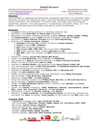 Full Resume Template Full Stack Developer Resume Resume Templates