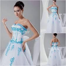 blue and white wedding dress naf dresses