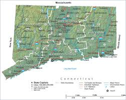 map of ma and ri connecticut state map and travel guide
