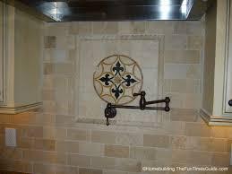 decorating white daltile backsplash with dark pot filler faucet