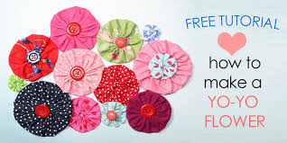 how to make fabric yo yos diy fabric flowers free template