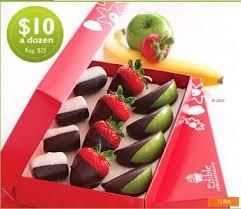 chocolate dipped fruit edible arrangements box of 12 chocolate dipped fruit only 10