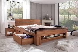 Schlafzimmer Komplett 140 Cm Bett Amazon De Futonbett Kernbuche Massiv Geölt Mit Bettkasten 140x200 Cm