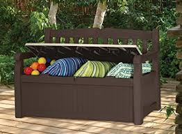 lowest price rubbermaid extra large 120 gallon deck box with seat