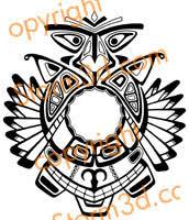 native american eagle tattoos in haida style