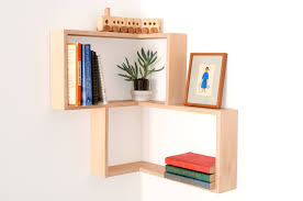 cherry wood corner bookcase furniture stylish wall display bookcase for interior wall