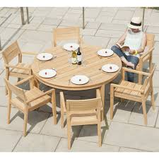 6 person round table alexander rose roble round table outdoor dining furniture set 6 person