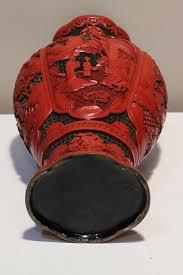 Red Lacquer Vase Large Laquer Ware Vase John Brand Oriental Art