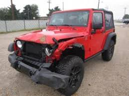 wrecked jeep wrangler for sale salvage jeep cars for sale and auction in missouri