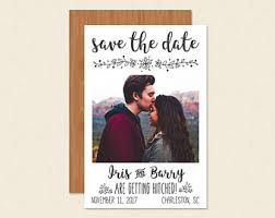 affordable save the dates save the date magnet polaroid etsy