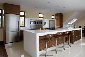 modern walnut kitchen contemporary kitchens high gloss cross grain veneer armagh