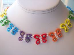 beaded butterfly bracelet images Butterfly necklace tutorial jpg