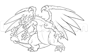 pokemon coloring pages mega charizard ex coloring page