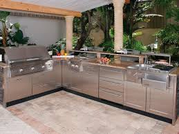 prefab outdoor kitchen kits black ceramic countertop stainless