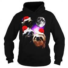 Three Wolf Moon Shirt Meme - santa sloth shirt three wolves moon parody meme shirt limited