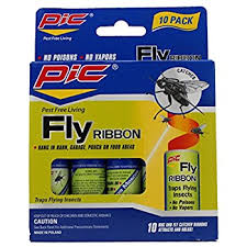 fly ribbon pic fr10b sticky fly ribbons 10 pack home pest