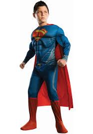 Halloween Costumes Kids Superhero Kids Man Steel Costume Deluxe Superman Fancy Dress General