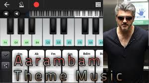 theme music aarambam aarambam theme music notes chords yuvan shankar raja ajith