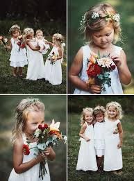 flower girl wedding chicago backyard foodie wedding lissa ben flower crowns