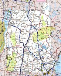 New Hampshire national parks images Large detailed roads and highways map of new hampshire state with jpg