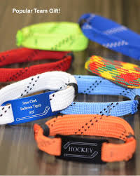 hockey seasonal gift guide 2014 loot bags lace bracelet and hockey
