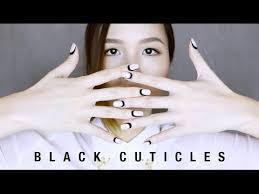 black cuticles nail tutorial nail art design youtube