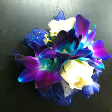 blue orchid corsage blue bom orchid corsage true waits 3 wedding day