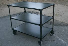 Industrial Kitchen Cart by Buy A Custom Vintage Industrial Mid Century Modern Cart Bar Cart