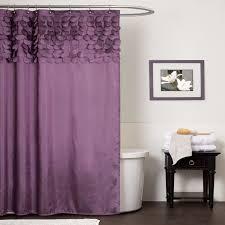 elegant shower curtain sears com lush decor mia purplegray idolza