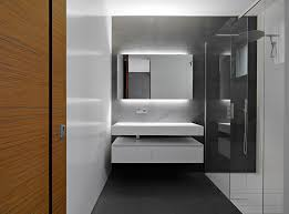 interior design minimalist monochrome bathroom design with led