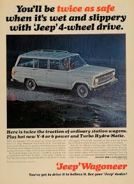 1965 ad kaiser jeep corp wagoneer 4 wheel drive car original