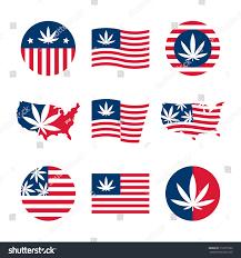 Dope American Flag American Flag Usa Map Cannabis Vector Stock Vector 712971532