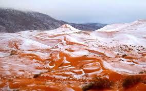 stunning photos capture snow in the desert