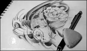 Black And Grey Koi Carp - the symbolism of koi fish and why they are popular tattoos