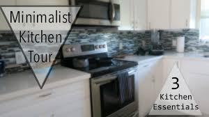 minimalist kitchen tour top 3 kitchen essentials youtube