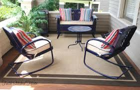 Antique Metal Porch Glider Upholstered Cushions For A Vintage Metal Porch Set Faith