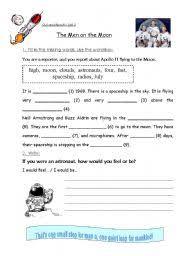 english teaching worksheets the moon
