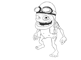 crazy frog coloring page crazy frog drawing clipartxtras