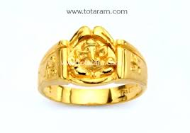 gold rings design for men 22k gold ganesh ring for men gr3859