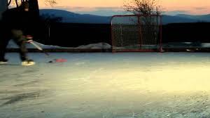 outdoor ice hockey rink youtube