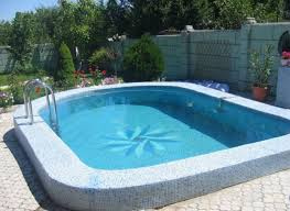 Inground Pool Ideas Semi Inground Pools Ideas In Rectangular And Curved Shapes