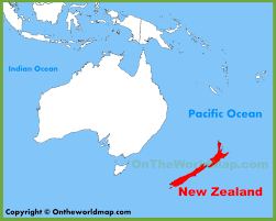 New Zealand And Australia Map New Zealand Location On The Oceania Map