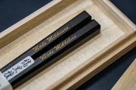 engraved chopsticks hideo kojima on the souvenir for mads is this special