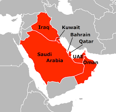 middle east map gulf of oman arab states of the gulf