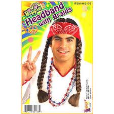 bandana hippie hippie bandana w braids 1960 s 70 s costume accessory polyvore
