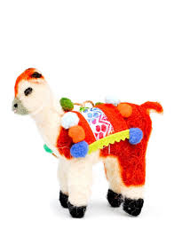 travelling llama ornament from leif