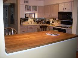 Butcher Block Kitchen Countertops Kitchen Endearing U Shape Kitchen Decoration Using White Wood